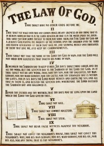1863 The Law of God Chart by James White